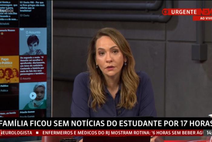 Maria Beltrão se emociona após morte de João Pedro