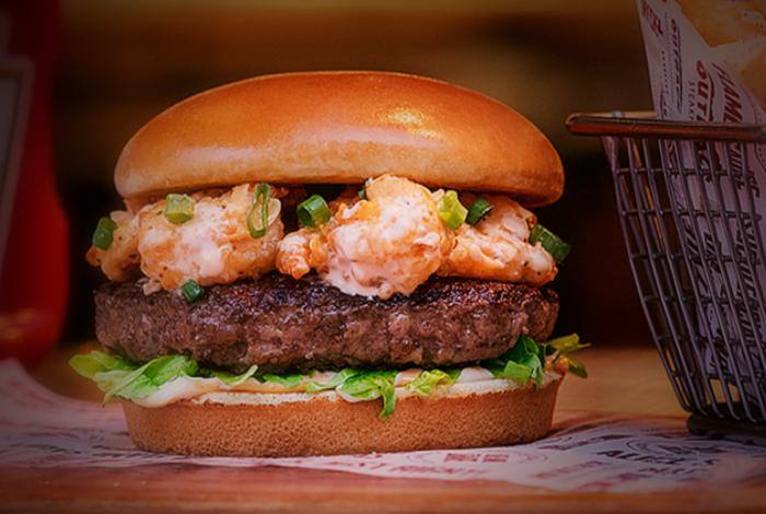 Fire Cracker Shrimp Burger