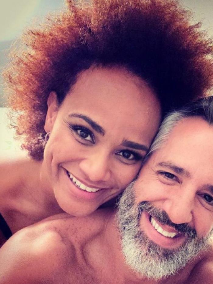 Luciana Mello e o marido Ike Levy
