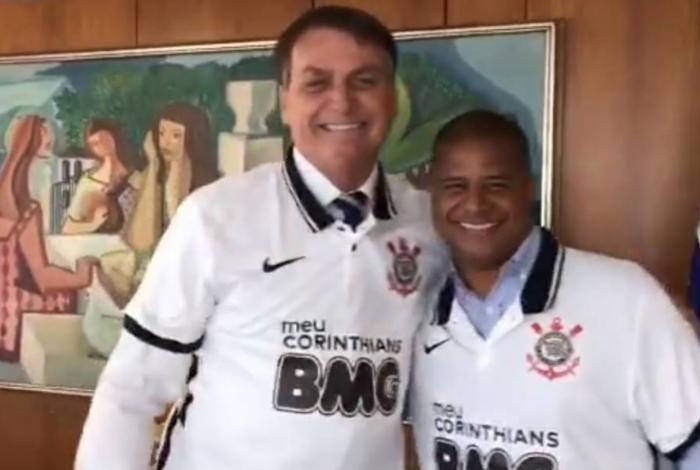Bolsonaro ao lado de Marcelinho