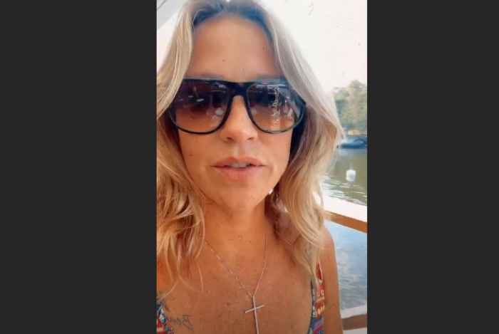 Luana Piovani no restaurante à beira mar na Suécia em que não conseguiu comer lagostim