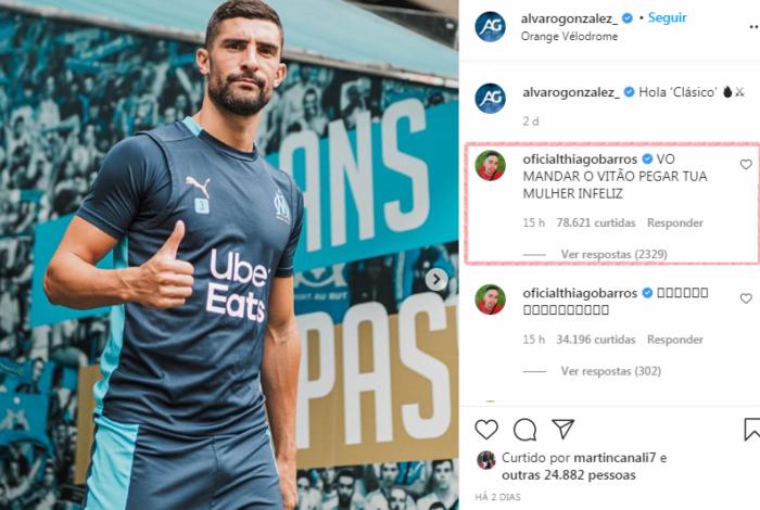 Instagram de Álvaro González é invadido por brasileiros defendendo Neymar