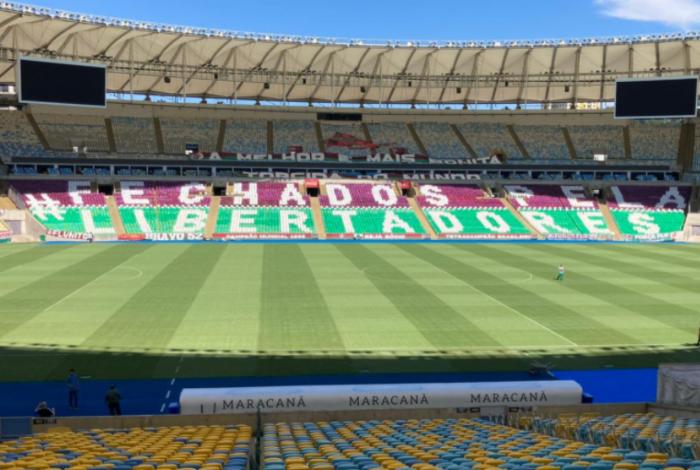 Maracanã já está preparado para receber a partida entre Fluminense e Fortaleza